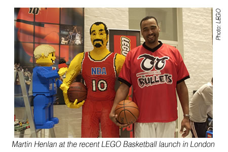 Martin Henlan at the recent LEGO Basketball launch in London